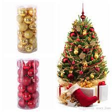Christmas Balls 3cm 4cm 6cm 8cm Xmas Tree Shatterproof Ornaments Set Decorative Baubles Pendants For Holiday Decorations Buy