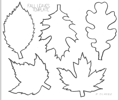 Mostrando Fall Leaves Printable Template by oilandblue