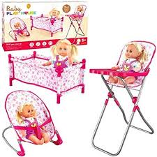 Details About Rexco 3 Piece Baby Cot Bed Bouncer High Chair Pretend Role  Play Toy Set No Dolls Baby Alive Doll Deluxe High Chair Toy Us 1363 Abs Ding For Mellchan 8 12inch Reborn Supplies Kids Play House Of Accsories For Toysin Dolls 545 25 Off4pcslot Pink Nursery Table Chair 16 Barbie Dollhouse Fnitureplay House Amazoncom Cp Toys Wooden Fits 12 To 15 Annabell Highchair Messy Dinner Laundry Wash Washing Machine Hape Doll Highchair Mini With Cradle Walker Swing Bathtub Infant Seat Bicycle Details About Olivias World Fniture Td0098ag Cutest Do It Yourself Home Projects Pepperonz Set New Born Assorted 5 Stroller Crib Car Seat Bath Potty Melissa Doug Badger Basket Blossoms And Butterflies American Girl My Life As Most 18