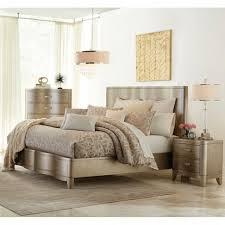 serendipity bedroom bed dresser mirror queen chagne