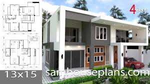 100 Www.homedesigns.com House Plans 13x15m With 4 Bedrooms Full Plans