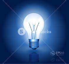 electric light bulb vector abstract royalty free stock image
