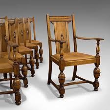 de 6er set esszimmerstühle antik englisch golden oak