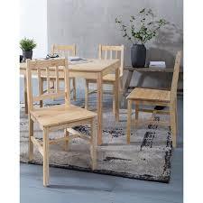 wohnling esszimmer set emil 7 teilig kiefer holz landhaus stil 120 x 73 x 70 cm natur essgruppe 1 tisch 6 stühle tischgruppe esstischset 6