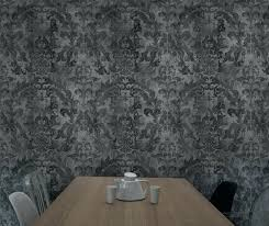 Urban Wallpaper For Walls Dark Concrete Damask By Design Young