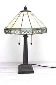 Tiffany Style Lamps Vintage by Comanche Mission Two Light Desk Table Lamphttp Www Squidoo Com