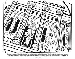 Kids Coloring Page From Whats In The Bible Featuring King Solomon And His Wives