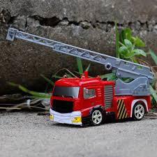 100 Mini Fire Truck 27MHz 40MHz RC Turntable Ladder 4CH Rechargeable Portable