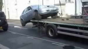 100 Tow Truck Flatbed Moron Drives Off To Avoid Parking Ticket Video