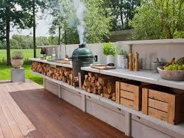 Rustic Outdoor Kitchen Designs Glamorous Style Paint Color With