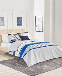 Lacoste Auckland Blue King Duvet Cover Set Bedding Collections