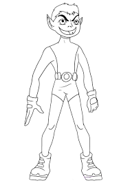 Beast Boy Teen Titans Coloring Pages
