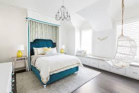 chambre deco bleu déco bleu canard et jaune qui attise des sentiments et rehausse le