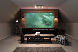 Ceiling Mount For Projector Screen by Fixed Frame Projection Screen 1080p Home Cinema Projector Screen
