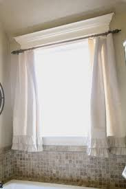 Kitchen Curtain Ideas Diy by Diy Ruffle Drop Cloth Curtains Decorative Mouldings Moldings