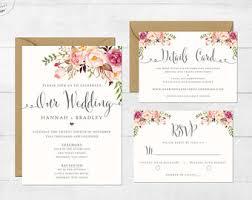 Wedding Invitation Online Indonesia Lovely Boho Invite Etsy