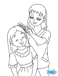 Mother And Daughter Coloring Page