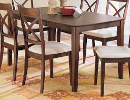 DINING ROOM Stunning Dark Brown Rectangle Oak Wood And Dining Table With Bench Padded Chair