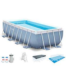 Intex 16 X 8 42 Prism Frame Rectangle AboveGround Pool Set