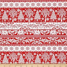 Winter Essential IV Stripe Red From Studio E This Cotton Print Collection Features Classic Color Combinations And Traditional Christmas