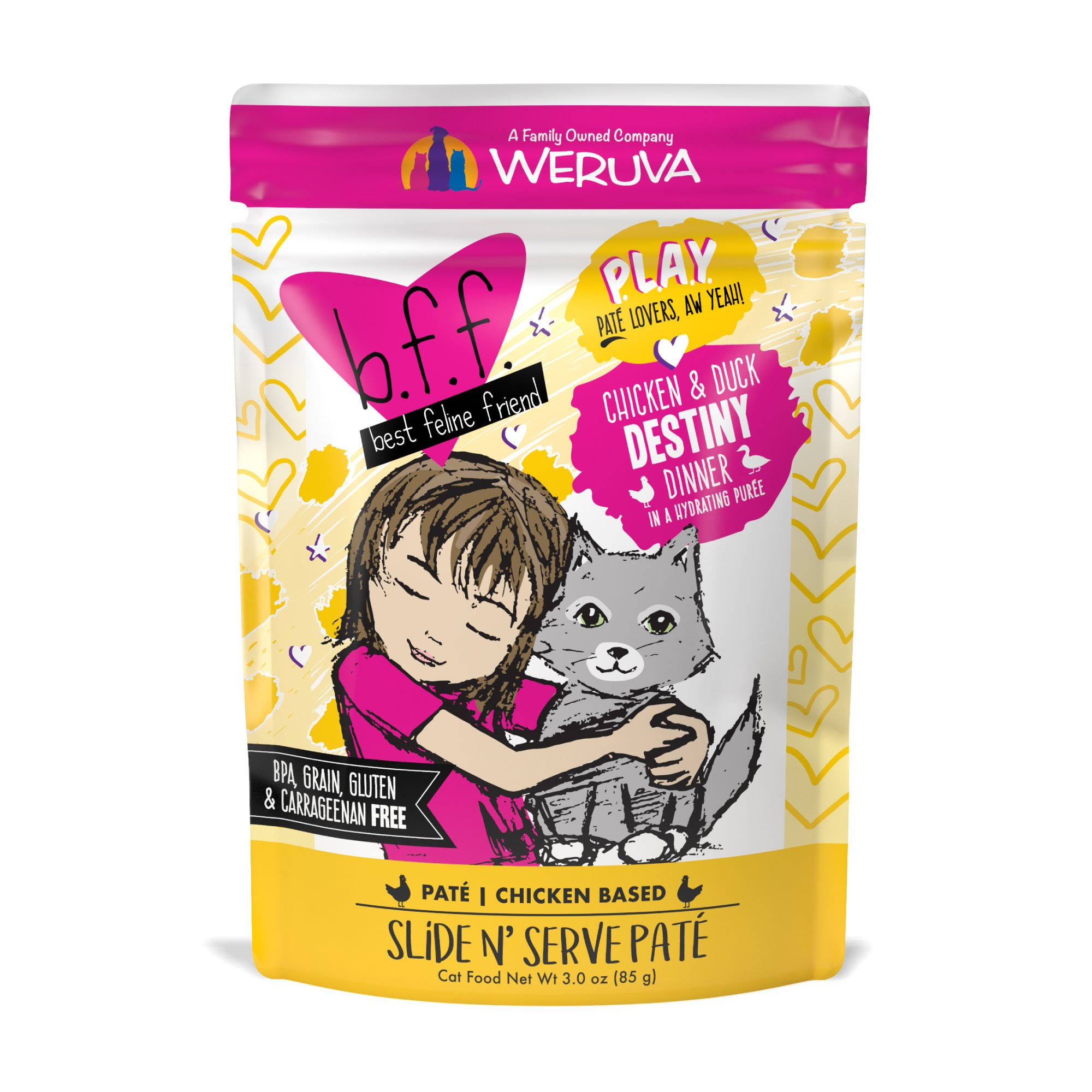 Best Feline Friend Play! Destiny 3.0 oz Pouch