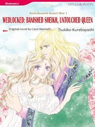 Cover Image Of Wedlocked Banished Sheikh Untouched Queen Mills Boon