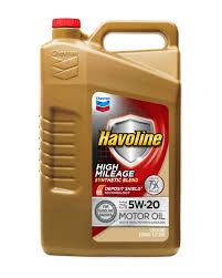 100 High Mileage Trucks Havoline 5W20 Synthetic Blend 5 Quarts 1 Pack
