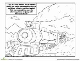 Tall Tales Coloring Pages Casey Jones