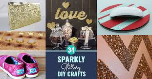 Cool DIY Crafts Made With Glitter