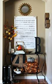 Pier 1 Halloween Mantel Scarf by A Fall Entryway This Is Our Bliss