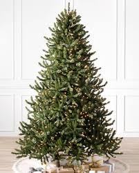 Twinkling Christmas Tree Lights Canada by Pre Lit Christmas Trees With Clear Led Lights Balsam Hill