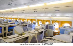 Airbus A380 Luxury Business Class Stock Royalty Free