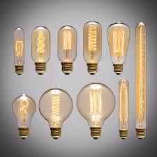 220v e27 edison retro bulb tungsten filament bulb vintage light