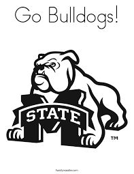 Go Bulldogs Coloring Page