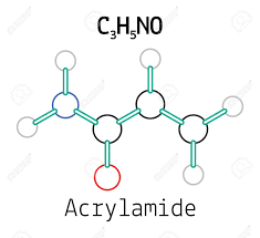C3H5NO Acrylamide 3d Molecule Isolated On White Stock Vector