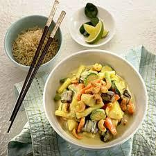 cuisine thailandaise recette curry de légumes au lait de coco recettes de cuisine thaïlandaise