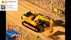 Kids Construction Vehicles And Trucks (Bulldozer, Excavator, Wheel Loader &  Diggers)