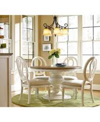 sag harbor expandable round dining pedestal table furniture macy s