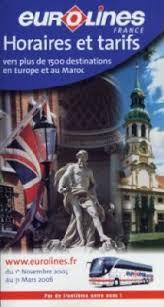 bureau eurolines eurolines nouveau catalogue horaires et tarifs