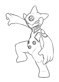 Alien Ditto Change Of Ben Tennyson Coloring Page
