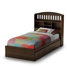 King Platform Bed With Headboard by Platform Bed With Shelf Headboard Espresso Wooden Tall Headboard