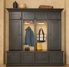 Dura Supreme provides mudroom and entry hall or entryway storage and organization furniture with boot benches and locker cabinets
