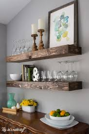 Lacking Storage Space Build Some Chunky Floating Shelves Both Beautiful And Practical