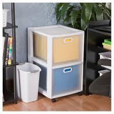 Sterilite 2 Shelf Storage Cabinet 2 Pack by Sterilite Ultra 2 Drawer Storage Cart White Target