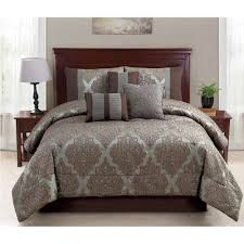 Bed Comforter Set by Mainstays 7 Piece Ruth Bedding Comforter Set Walmart Com