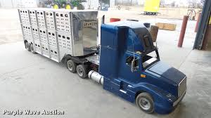 Miniature Semi Truck And Cattle Pot Trailer | Item DC2435 | ...