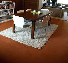 28 standard size rug for dining room table what size rug