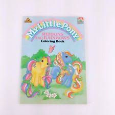 Vintage My Little Pony Ribbons And Rainbows Coloring Book 1988 Hasbro Activity