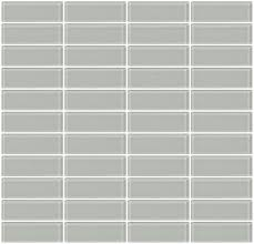 glass tile 1x3 inch light gray glass subway tile stacked