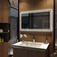 wandspiegel led badspiegel beleuchtung touch bluetooth